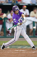 TCU's Featherston, Taylor 7466.jpg against Florida State at the College World Series on June 23rd, 2010 at Rosenblatt Stadium in Omaha, Nebraska.  (Photo by Andrew Woolley / Four Seam Images)