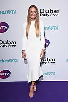 LONDON, UK. June 28, 2019: Caroline Wozniacki arriving for the WTA Summer Party 2019 at the Jumeirah Carlton Tower Hotel, London.<br /> Picture: Steve Vas/Featureflash