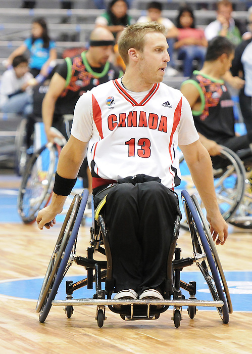 Brandon Wagner, Guadalajara 2011 - Wheelchair Basketball // Basketball en fauteuil roulant.<br /> Team Canada competes in the bronze medal game // Équipe Canada participe au match pour la médaille de bronze. 11/18/2011.