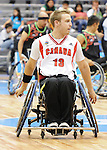 November 18 2011 - Guadalajara, Mexico:  Brandon Wagner of Team Canada during the bronze medal game in the CODE Alcalde Sports Complex at the 2011 Parapan American Games in Guadalajara, Mexico.  Photos: Matthew Murnaghan/Canadian Paralympic Committee