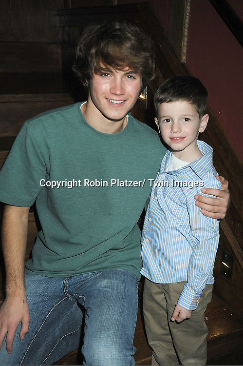 Andrew Trischitta and Patrick Gibbons, Jr attend The One Life To Live Benefit for The Amber Roach Memorial Garden on January 7, 2012 at Brother .Jimmy's BBQ Union Square Restaurant in New York City.