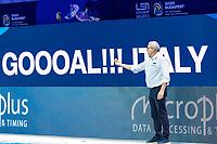 CAMPAGNA Alessandro Coach<br />  <br /> Budapest 16/01/2020 Duna Arena <br /> France (white caps) Vs. Italy (blue caps) Men<br /> XXXIV LEN European Water Polo Championships 2020<br /> Photo  ©Giorgio Scala / Deepbluemedia / Insidefoto