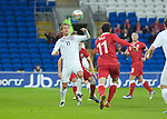 Norways Morten Gamst Pedersen (11) and Gareth Bale of Wales during the .Wales v Norway Vauxhall international friendly match at the Cardiff City Stadium in South Wales..Editorial use only.
