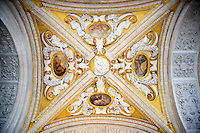 Ceiling inside the Doges, Venice, Italy
