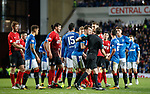 Ryan Jack is led away by referee Alan Muir