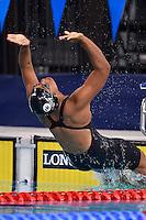 Caroline Puamau of FIJ competes in 50 meter backstroke final during Commonwealth Games Swimming, Monday, July 28, 2014 in Glasgow, United Kingdom. (Mo Khursheed/TFV Media via AP Images)