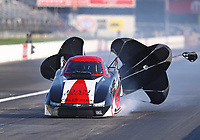 Aug 8, 2020; Clermont, Indiana, USA; NHRA top alcohol funny car driver Jonnie Lindberg during the Indy Nationals at Lucas Oil Raceway. Mandatory Credit: Mark J. Rebilas-USA TODAY Sports