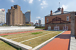 Shanghai Rowing Club Building. Rear View Showing The Outline Of The Swimming Pool, Once Shanghai's Best. And Note The Pool's Starting Plinths And Framework Mount For The Roof.<br /> <br /> Broadway Mansions, Astor House Hotel, Garden Bridge And The Russian Consulate To The Rear.