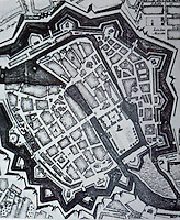"Berlin: Fortified Town of 1733. ""accurately conveys  very small size..."" From METROPOLIS 1890-1940. Reference only."