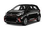 2019 KIA Picanto GT Line 5 Door Hatchback angular front stock photos of front three quarter view