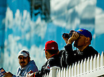 LAUREL, MARYLAND - OCTOBER 22: Fans handicap races and watch entries on Maryland Million Day at Laurel Park on October 22, 2016 in Laurel, Maryland. (Photo by Scott Serio/Eclipse Sportswire/Getty Images)