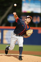 February 21 2010: Tyler Pill of Cal. St. Fullerton during game against Cal. St. Long Beach at Goodwin Field in Fullerton,CA.  Photo by Larry Goren/Four Seam Images
