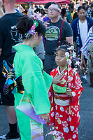 Mother & Daughter, Bon Odori Festival 2015, Seattle, WA, USA.