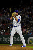 Iowa Cubs pitcher Dakota Mekkes (44) on the mound during a Pacific Coast League game against the Colorado Springs Sky Sox on June 22, 2018 at Principal Park in Des Moines, Iowa. Iowa defeated Colorado Springs 4-3. (Brad Krause/Four Seam Images)