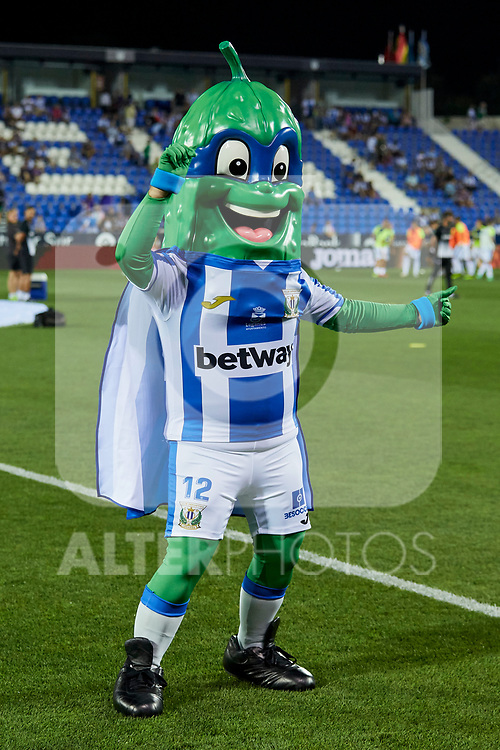 Real Sociedad's pet Superpepino during La Liga match. August 24, 2018. (ALTERPHOTOS/A. Perez Meca)