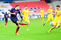 24th March 2021; Stade De France, Saint-Denis, Paris, France. FIFA World Cup 2022 qualification football; France versus Ukraine;  Benjamin Pavard (france)  crosses into the box