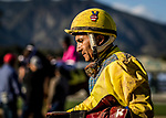 ARCADIA, CA -APRIL 08: Jockey, Rafael Bejarano at Santa Anita Park on April 08, 2017 in Arcadia, California. (Photo by Alex Evers/Eclipse Sportswire/Getty Images)
