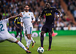 Moussa Sissoko of Tottenham Hotspur FC (R) in action during the UEFA Champions League 2017-18 match between Real Madrid and Tottenham Hotspur FC at Estadio Santiago Bernabeu on 17 October 2017 in Madrid, Spain. Photo by Diego Gonzalez / Power Sport Images