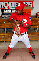 11 June 2006: Alfonso Soriano, outfielder for the Washington Nationals, prepares to take the field prior to a game against the Philadelphia Phillies at RFK Stadium, in Washington, DC. The Nationals shut out the visiting Phillies 6-0 to take the series three games to one...Mandatory Photo Credit: Ed Wolfstein Photo..