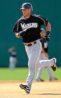 14 March 2006: Jeremy Hermida, outfielder for the Florida Marlins, runs the bases during batting practice prior to a Spring Training game against the Washington Nationals. The Marlins defeated the Nationals 2-1 at Space Coast Stadium, in Viera, Florida...Mandatory Photo Credit: Ed Wolfstein..