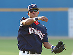 20 July 2005: Ian Desmond of the Potomac Nationals, Class A Carolina League affiliate of the Washington Nationals, in a game against the Salem Avalanche, taken at Pfitzner Stadium, Woodbridge, Va. Photo by Tom Priddy. All rights reserved. Contact tom@tompriddy.com or http://www.tompriddy.com.
