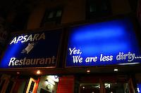 28.10.2007 Varanasi(Uttar Pradesh)<br /> <br /> The entrance of the Apsara restaurant.<br /> <br /> L'entrée du restaurant Apsara.