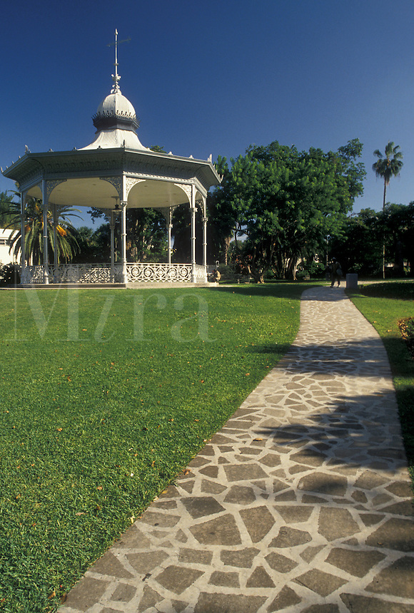 Bermuda, Hamilton, Gazebo in Victoria Park in the town of Hamilton in Bermuda.