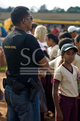 Altamira, Brazil. Armed civil policeman.