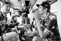Yoann Offredo (FRA/Wanty-Groupe Gobert) on the teambus pre-race<br /> <br /> 60th E3 Harelbeke (1.UWT)<br /> 1day race: Harelbeke › Harelbeke - BEL (206km)