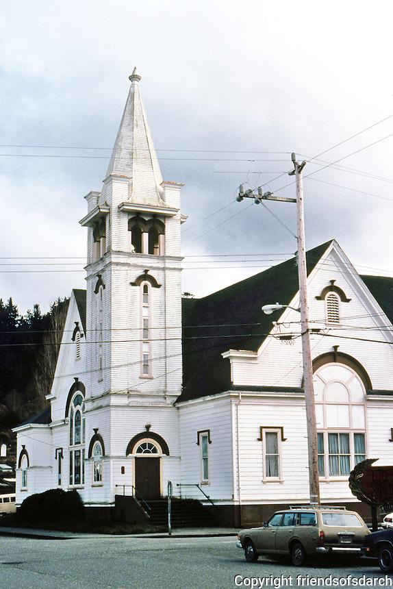 Ferndale CA:  Church, 1870's. Now closed.   Photo '83.