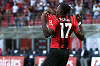 Rafael Leao of AC Milan celebrates after scoring the goal of 1-0 during the Serie A 2021/2022 football match between AC Milan and SS Lazio at Giuseppe Meazza stadium in Milano (Italy), August 29th, 2021. Photo Image Sport / Insidefoto