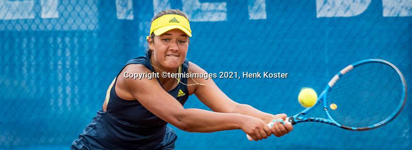 Amstelveen, Netherlands, 5  Juli, 2021, National Tennis Center, NTC, Amstelveen, Womans Open,  Merel Hoedt (NED)<br /> Photo: Henk Koster/tennisimages.com