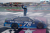 Monster Energy NASCAR Cup Series<br /> Bank of America 500<br /> Charlotte Motor Speedway, Concord, NC<br /> Sunday 8 October 2017<br /> Martin Truex Jr, Furniture Row Racing, Auto-Owners Insurance Toyota Camry celebrates his win<br /> World Copyright: Russell LaBounty<br /> LAT Images