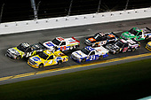 NASCAR Camping World Truck Series<br /> NextEra Energy Resources 250<br /> Daytona International Speedway, Daytona Beach, FL USA<br /> Friday 16 February 2018<br /> Justin Haley, GMS Racing, Fraternal Order Of Eagles Chevrolet Silverado and David Gilliland, Kyle Busch Motorsports, Pedigree Toyota Tundra lead the field<br /> World Copyright: Barry Cantrell<br /> LAT Images