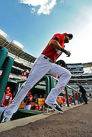 9 July 2011: Washington Nationals first baseman Michael Morse takes to the field for a game against the Colorado Rockies at Nationals Park in Washington, District of Columbia. The Nationals were edged out by the Rockies 2-1, dropping the second game of their 3-game series. Mandatory Credit: Ed Wolfstein Photo
