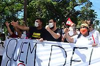 Recife (PE), 05/06/2021 - Protesto-Recife - O dirigente do PSOL, Guilherme Boulos, participou nesta manhã de sexta-feira (04) de um ato contra a violência polícial ocorrida na passeata do dia 29 de maio. O ato aconteceu na frente do Palácio da Justiça de PE no bairro de Santo Antônio, centro do Recife.