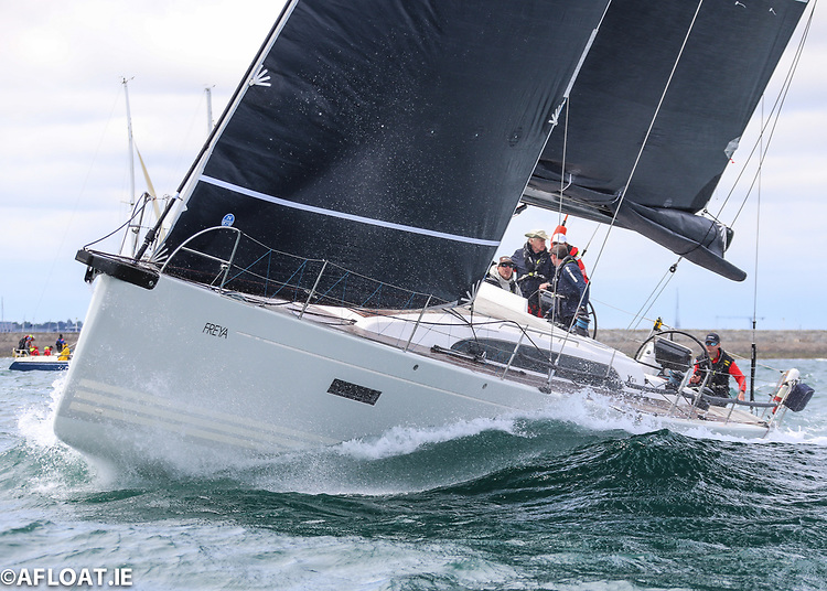 Conor Doyle's Freya from Kinsale Yacht Club has been awarded second place overall in the 2021 Dun Laoghaire Dingle Race by a protest committee following the rescue of a kitesurfer off the Wicklow coast in the early stages of the 280-mile race