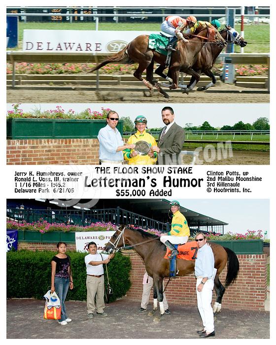 Letterman's Humor winning The Floor Show Stakes at Delaware Park on 6/21/05