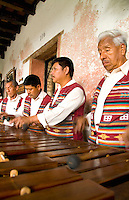 Band playing music harps at La Posada de Don Rodrigo hotel, Antigua, Guatemala, Central America
