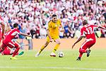 Tom Rogic of Australia (C) in action during the AFC Asian Cup UAE 2019 Group B match between Australia (AUS) and Jordan (JOR) at Hazza Bin Zayed Stadium on 06 January 2019 in Al Ain, United Arab Emirates. Photo by Marcio Rodrigo Machado / Power Sport Images