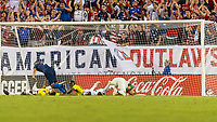 Tampa, FL - Thursday, October 11, 2018: Bobby Wood, Goal celebration during a USMNT match against Colombia.  Colombia defeated the USMNT 4-2.
