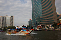 Chao Praya river in <br /> Bangkok, Thailand in December 2016 after the King's death