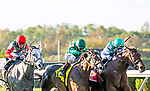 September 26th, 2020:  Joel Rosario rides the rail with #1 Viadera to win the Grade three Noble Damsel.  Trained by Chad Brown, the race was at Belmont Park in Elmont, New York. Heary/Eclipse Eclipse Sportswire/CSW