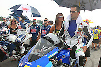Matt Mladin on the grid before Sunbday's American Superbike race at the Suzuki Big Kahuna Nationals, Virginia International Raceway, Alton, VA, August 2009. (Photo by Briain Cleary/www.bcpix.com)