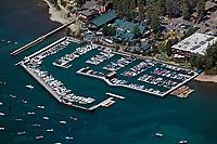 aerial photograph of the Tahoe city marina, Tahoe City, Lake Tahoe, California