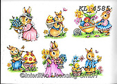 Interlitho-Theresa, EASTER, OSTERN, PASCUA, paintings+++++,6 rabbits,KL4585,#e#, EVERYDAY ,rabbit,rabbits ,sticker,stickers,