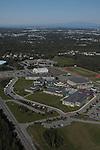 Service High School, Anchorage, Alaska. Aerial photograph.