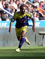 Pictured: Wayne Routledge of Swansea. Saturday 19 April 2014<br /> Re: Barclay's Premier League, Newcastle United v Swansea City FC at St James Park, Newcastle, UK.