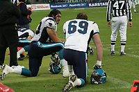 Sean Bubin und Ben Johnson (beide Tackle Hamburg Sea Devils)