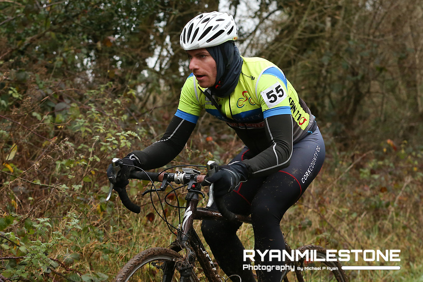 EVENT:<br /> Round 5 of the 2019 Munster CX League<br /> Drombane Cross<br /> Sunday 1st December 2019,<br /> Drombane, Co Tipperary<br /> <br /> CAPTION:<br /> Steven Darby of Cork County CC in action during the B Race<br /> <br /> Photo By: Michael P Ryan